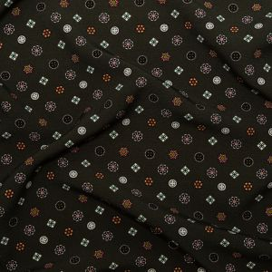 Mood Exclusive Emblematic Medallions Stretch Polyester Crepe