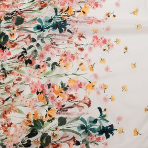 Mood Exclusive Blooming Upwards White Cotton Voile