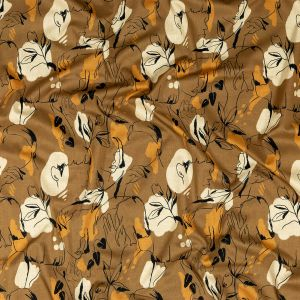 Mood Exclusive Contoured Personage Brown Cotton Voile