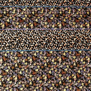 Mood Exclusive Fragmented Flourishings Stretch Cotton Sateen