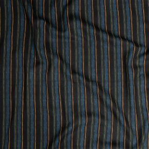 Mood Exclusive Linear Transcendence Navy Linen and Rayon Woven