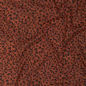 Mood Exclusive Burnt Ochre Ancient Iconography Cotton Voile