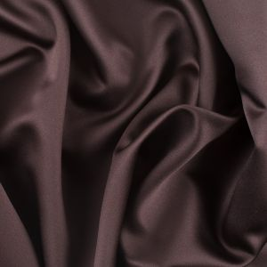 Ultra Brown Solid Polyester Satin