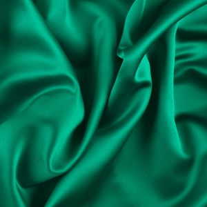 Kelly Green Solid Polyester Satin