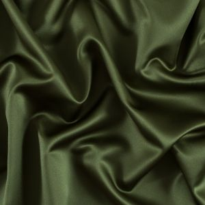 Moss Green Solid Polyester Satin