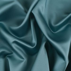 Teal Solid Polyester Satin