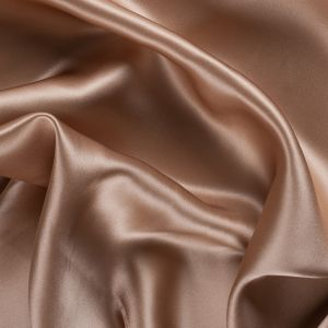 Toasted Stretch Silk Charmeuse