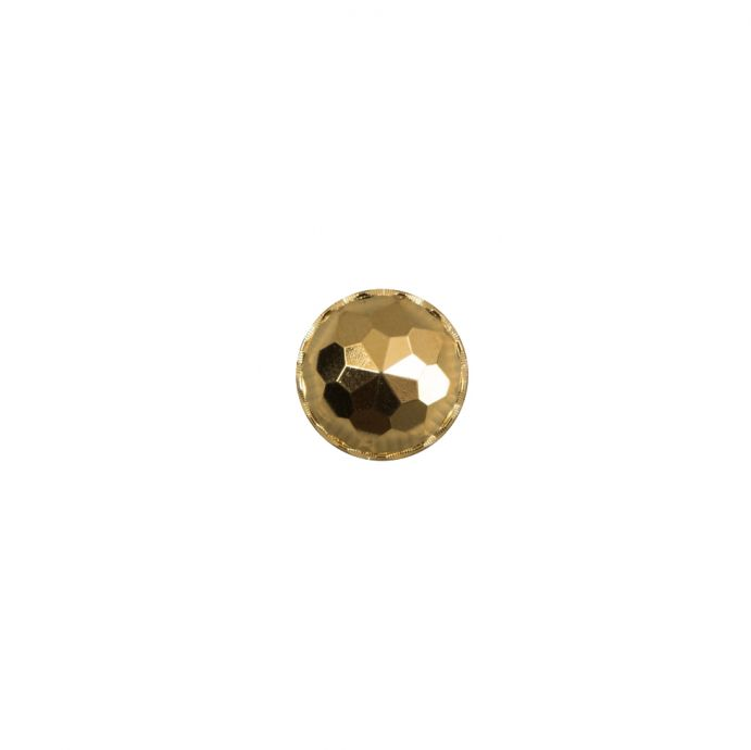 Italian Gold Plated Bevel-Cut Button - 14L/9mm