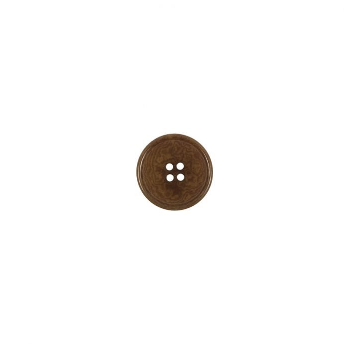 Brown Horn 4-Hole Button - 14L/9mm