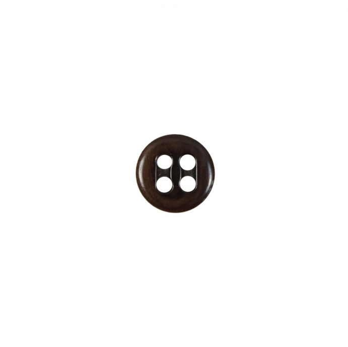 Chocolate Horn 4-Hole Button - 14L/9mm