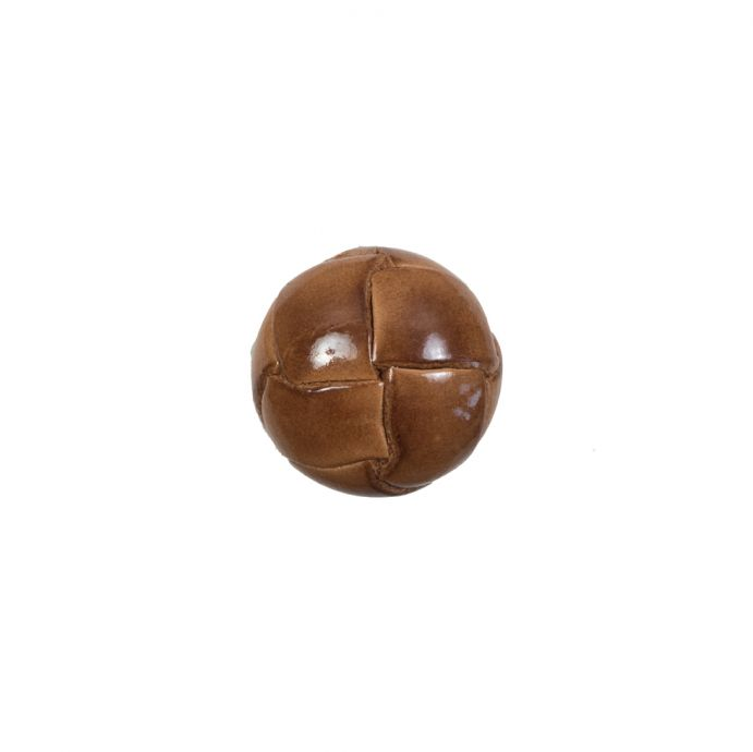 Lacquered Natural Leather Button - 20L/12mm