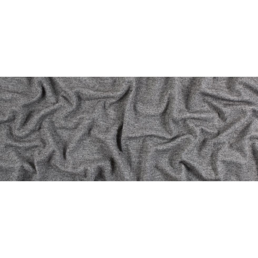 Heather Gray Texture Boiled Wool Coating Fabric By The Yard