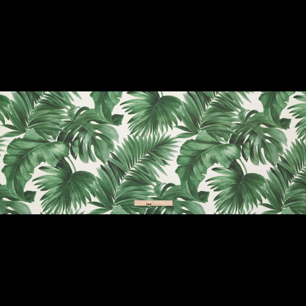 Dark Green Tropical Leaves Printed Woven Woven Polyester Home Fabrics 7x5ft tropical dark green leaves palm tree custom photo. dark green tropical leaves printed woven