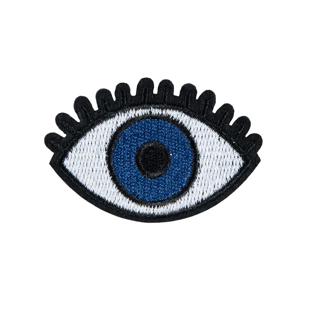 Long Eyelash Big Eye Embroidery Patch,Heart Eye Embroidered Patch,Applique,Pink