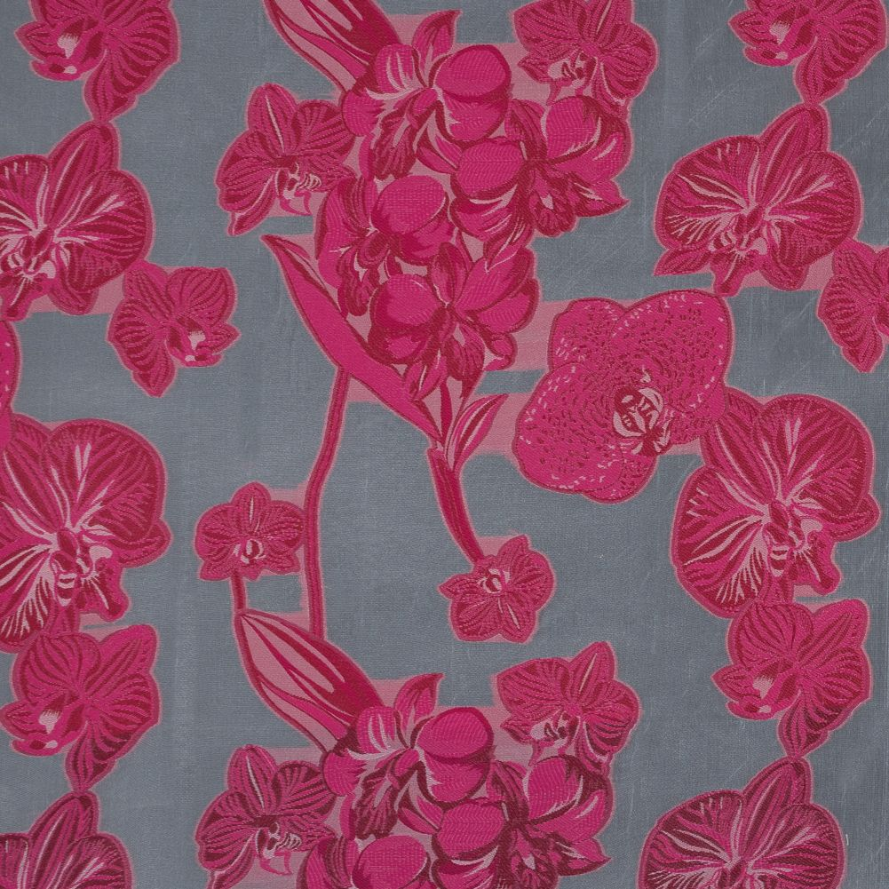 Organza fabric by half yard-light green organza embroidery Indian embellished fabric-red and orange floral embroidery
