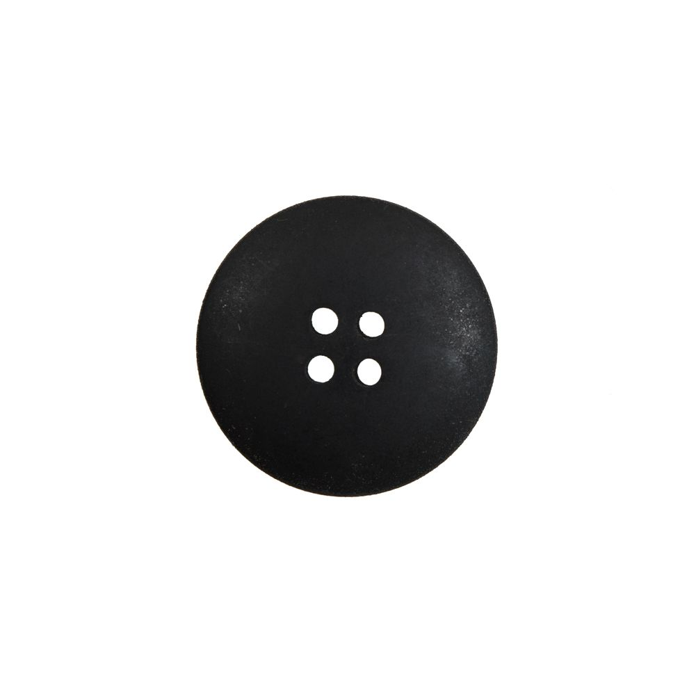 8 Buttons Round Wood Natural Brown Dark Perforated 23mm