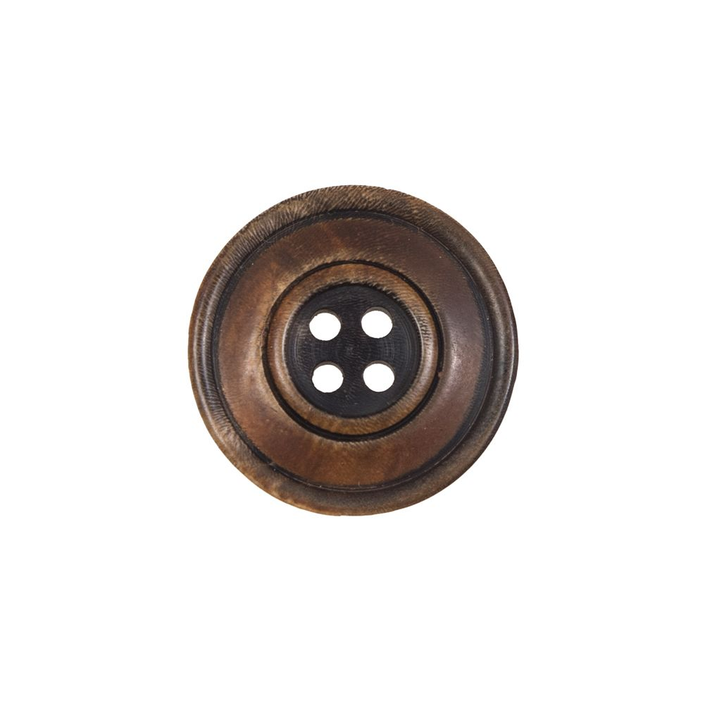 9 pcs Natural real horn buttons 4 hole 20 mm0.79 inches  brown
