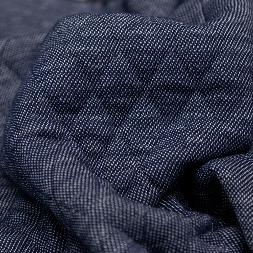 Navy blue Quilted Circular knit Cotton jersey fabric BY THE YARD  Paint splash padded soft warm ready quilted pre quilted  Ykfabrics QJ26:
