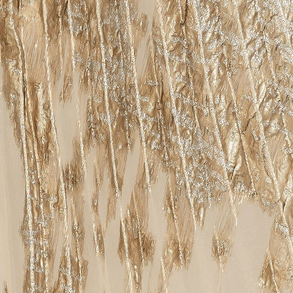 Mood Exclusive Metallic Gold And Silver Pleated Skirt Lame Metallic Other Fabrics Fashion Fabrics