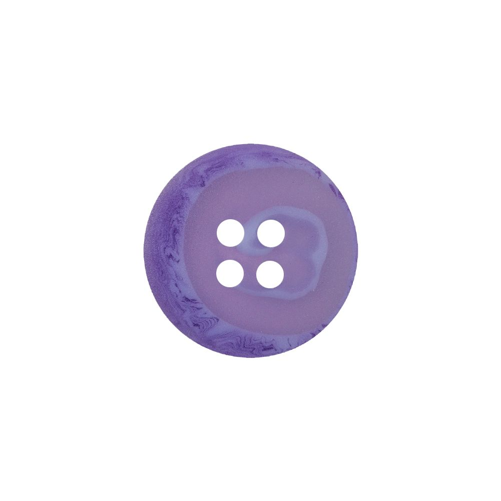 Purple buttons 15mm wide white stripe round 2 hole