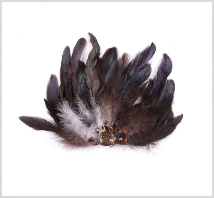 Green Combo Feather Brooch