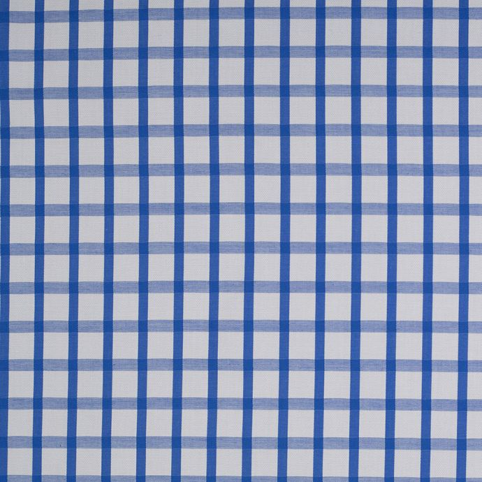 Blue and White Checkered Cotton Shirting