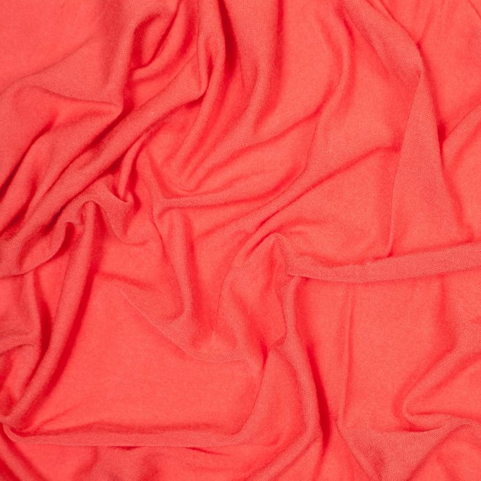 Coral Wild Stretch Rayon Jersey