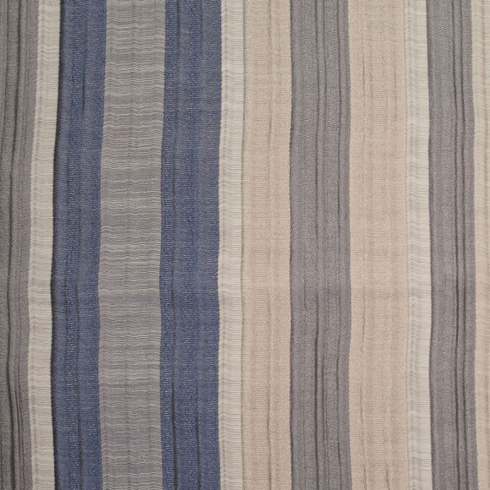 Indian Blue/Beige Striped Poly/Cotton Brocade