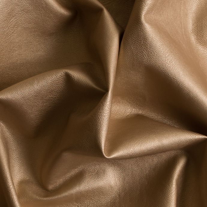 Bright Gold Fashion-Weight Faux Leather