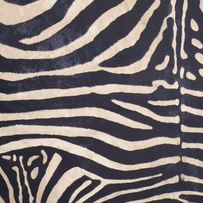 Black/Beige Zebra Printed Micro-Polyester and Cotton