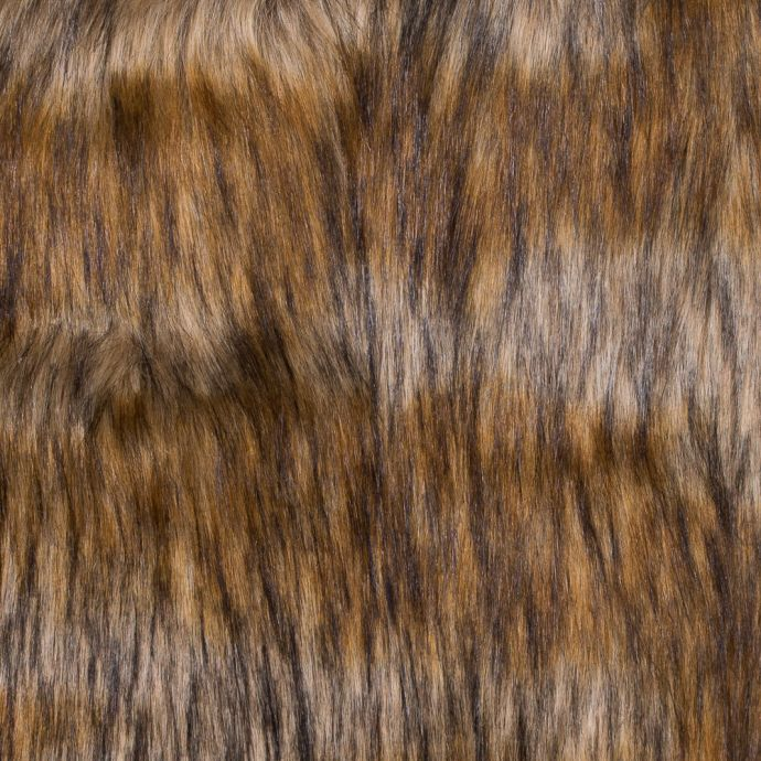 Brown and Beige Long Haired Faux Fur