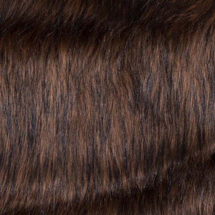 Brown Long Haired Faux Fur