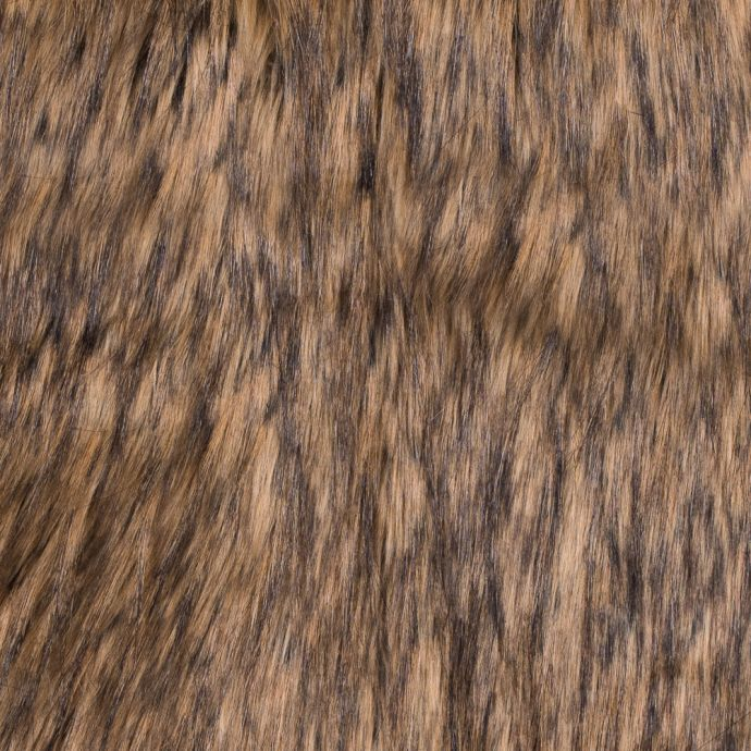 Brown and Black Long Haired Faux Fur
