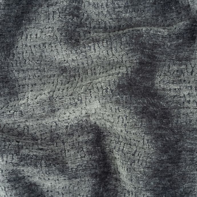 Denim Abstract Textured Acrylic and Polyester Chenille