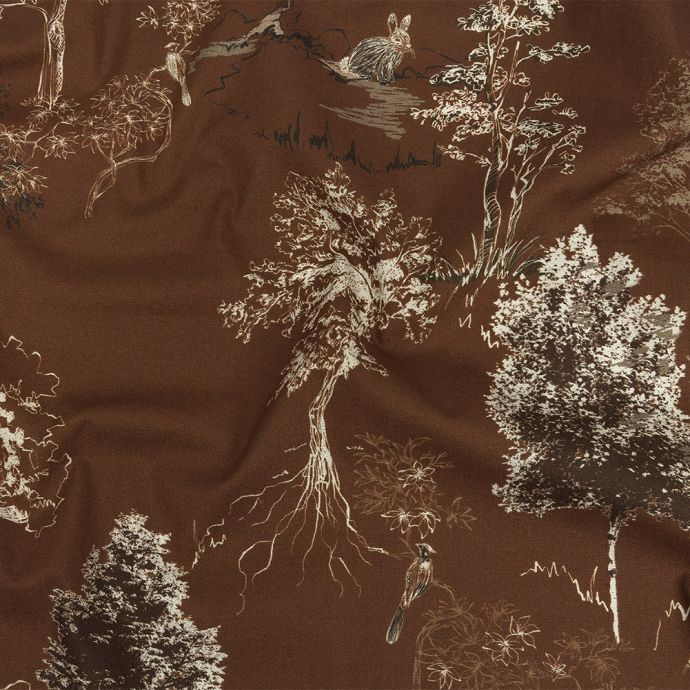 Mood Exclusive Brown Old Growth Stretch Cotton Poplin