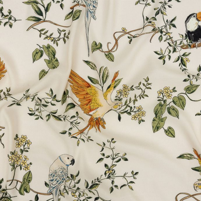 Mood Exclusive Ivory Avian Adoration Sustainable Viscose Woven