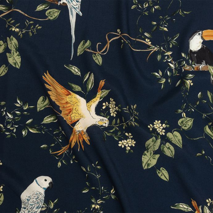 Mood Exclusive Navy Avian Adoration Sustainable Viscose Woven