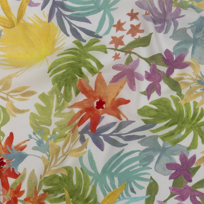 Mood Exclusive White Tropical Candy Sustainable Viscose Woven