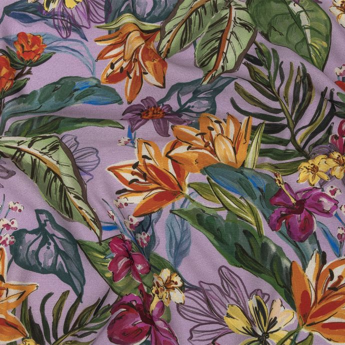Mood Exclusive Lavender Flowering Fantasy Sustainable Viscose Woven