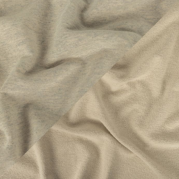 Heathered Moonbeam, Quarry, and Turtledove Cotton French Terry