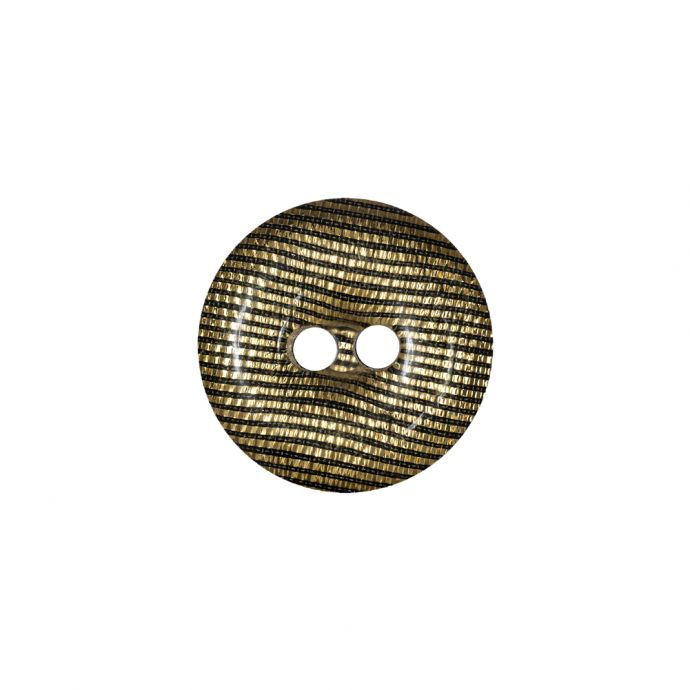 Black and Gold Iridescent Disco Two-Hole Button - 28L/18mm