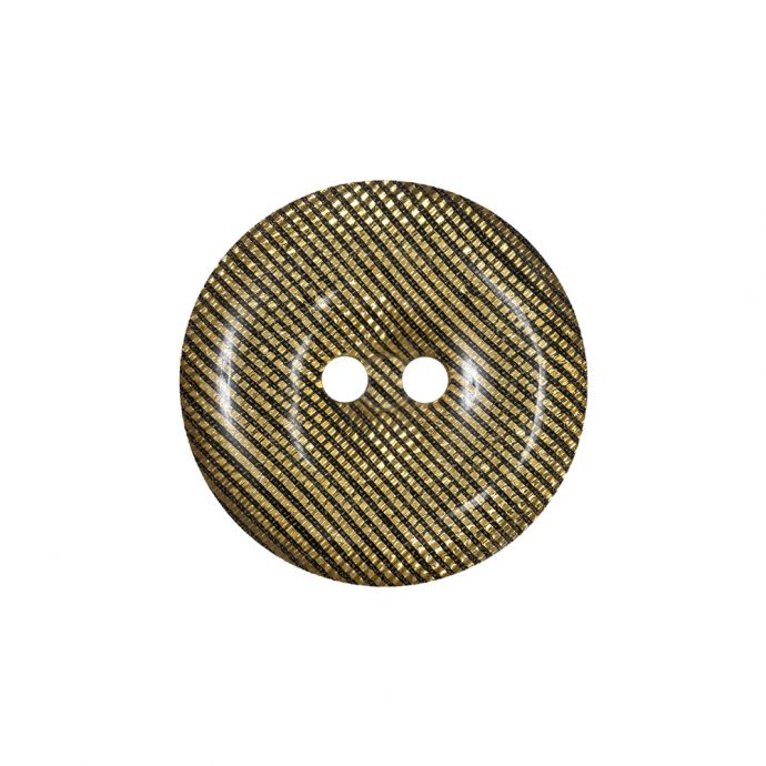 Black and Gold Iridescent Disco Two-Hole Button - 36L/23mm
