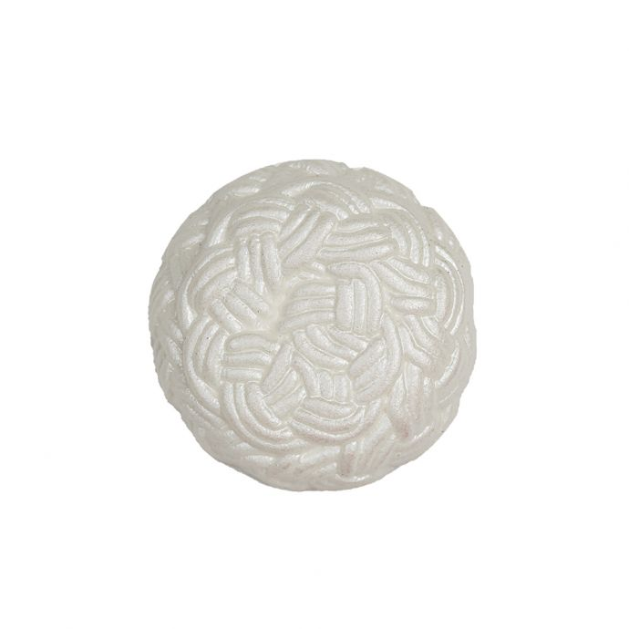 White Knotted Textured Molded Shank Back Plastic Button - 36L/23mm