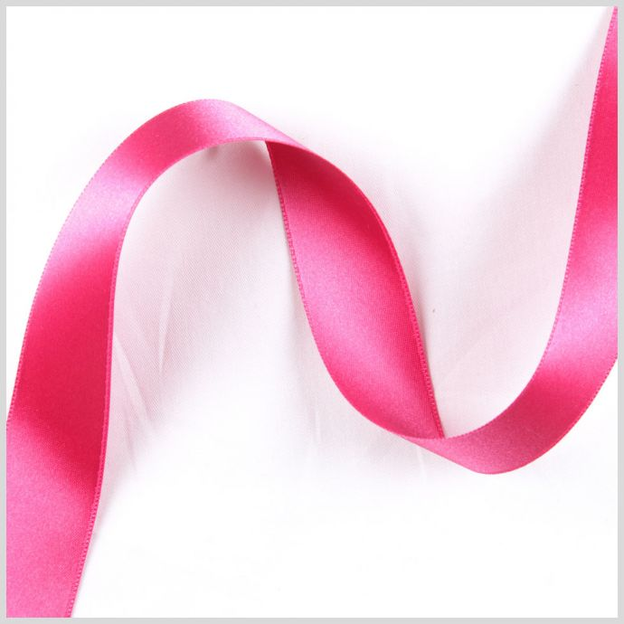 2.5 Hot Pink Double Face French Satin Ribbon