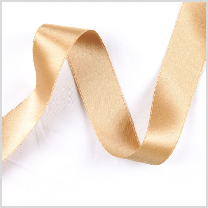 2.5 Gold Double Face French Satin Ribbon