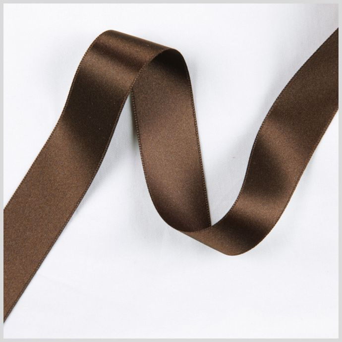 2.5 Brown Double Face French Satin Ribbon