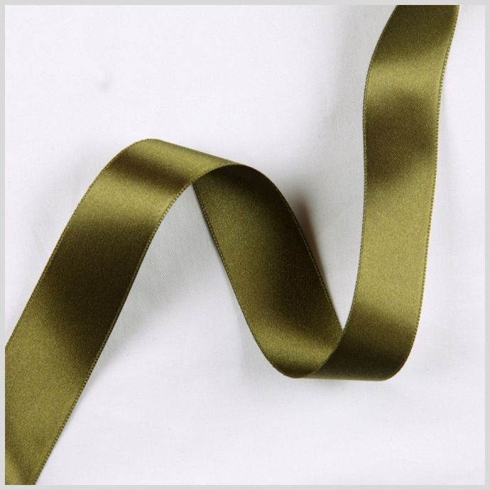 2.5 Sage Double Face French Satin Ribbon