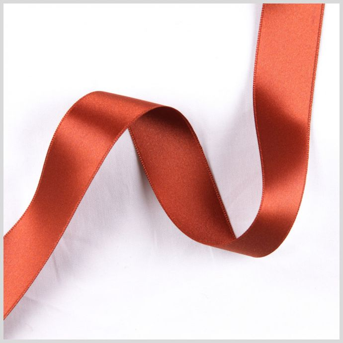 2.5 Rust Double Face French Satin Ribbon