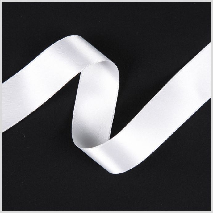 Off-White Double Face French Satin Ribbon - 1