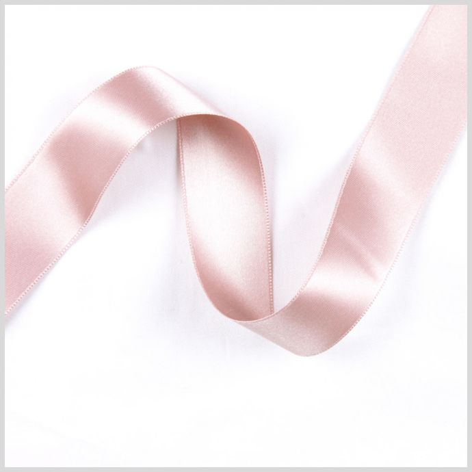 Dusty Rose Double Face French Satin Ribbon - 1